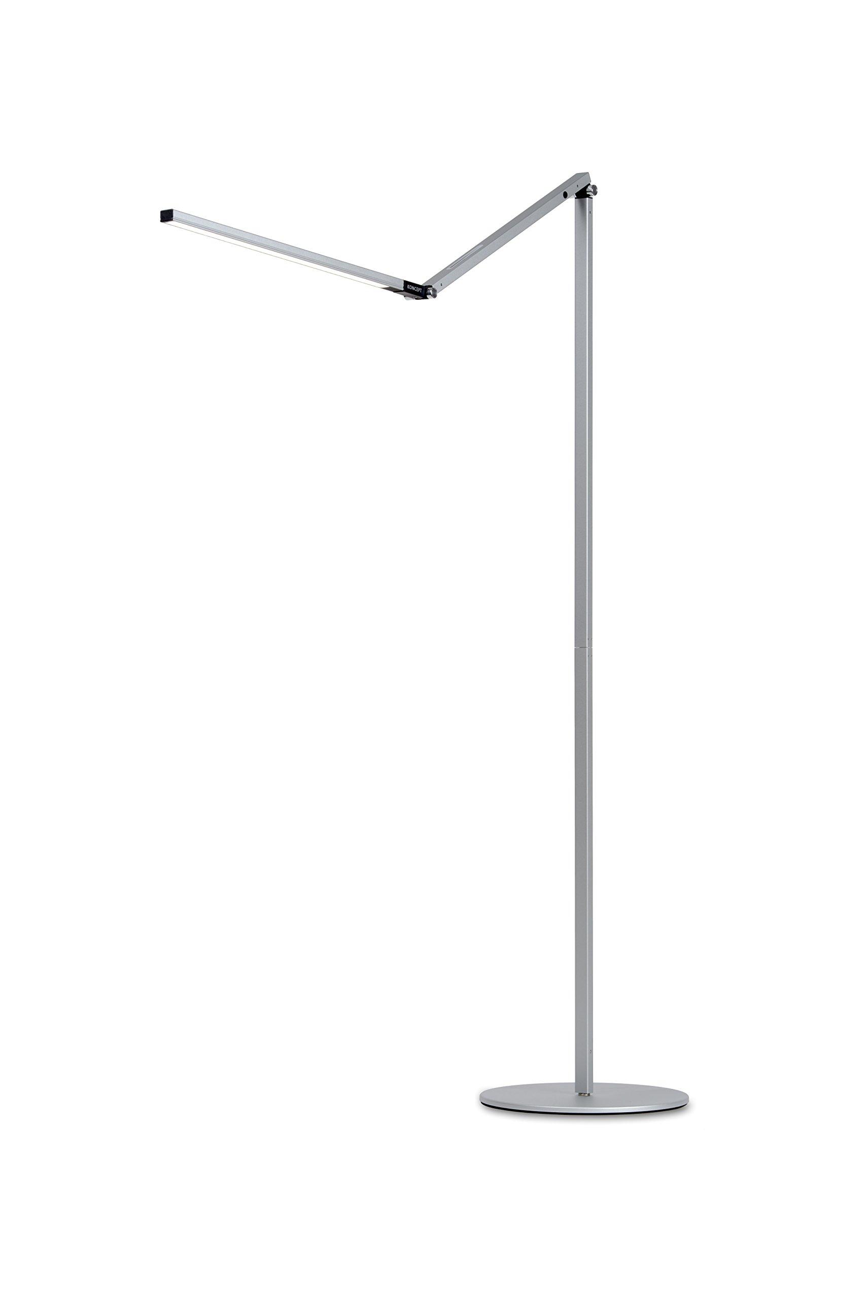 Koncept AR5000-C-SIL-FLR Z-Bar LED Floor Lamp, Cool Light, Silver