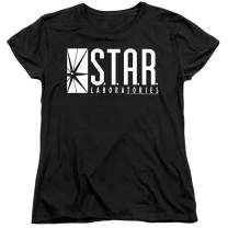 Women's Flash Star Labs Superhero S.T.A.R. Laboratories T Shirt & Stickers