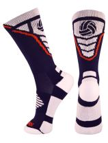 Perfect Gift for Volleyball Fans/Players - Volleyball Logo Athletic Crew Socks