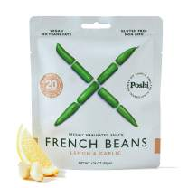 POSHI French Green Bean Vegetable Snack | 10 Pack | Keto, Vegan, Paleo, Non GMO, Low Carb, Low Calorie, Gluten Free, Marinated, Steamed, Gourmet, Healthy, Natural, Travel Snack