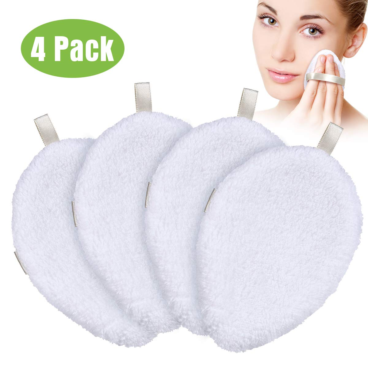 Reusable Makeup Remover Pads, Organic Bamboo Cotton Rounds, Reusable Cotton Pads Face Cleansing Wipes, Christmas Stocking Stuffers Gift for Women Mom Wife Sister Teen Girl Friend
