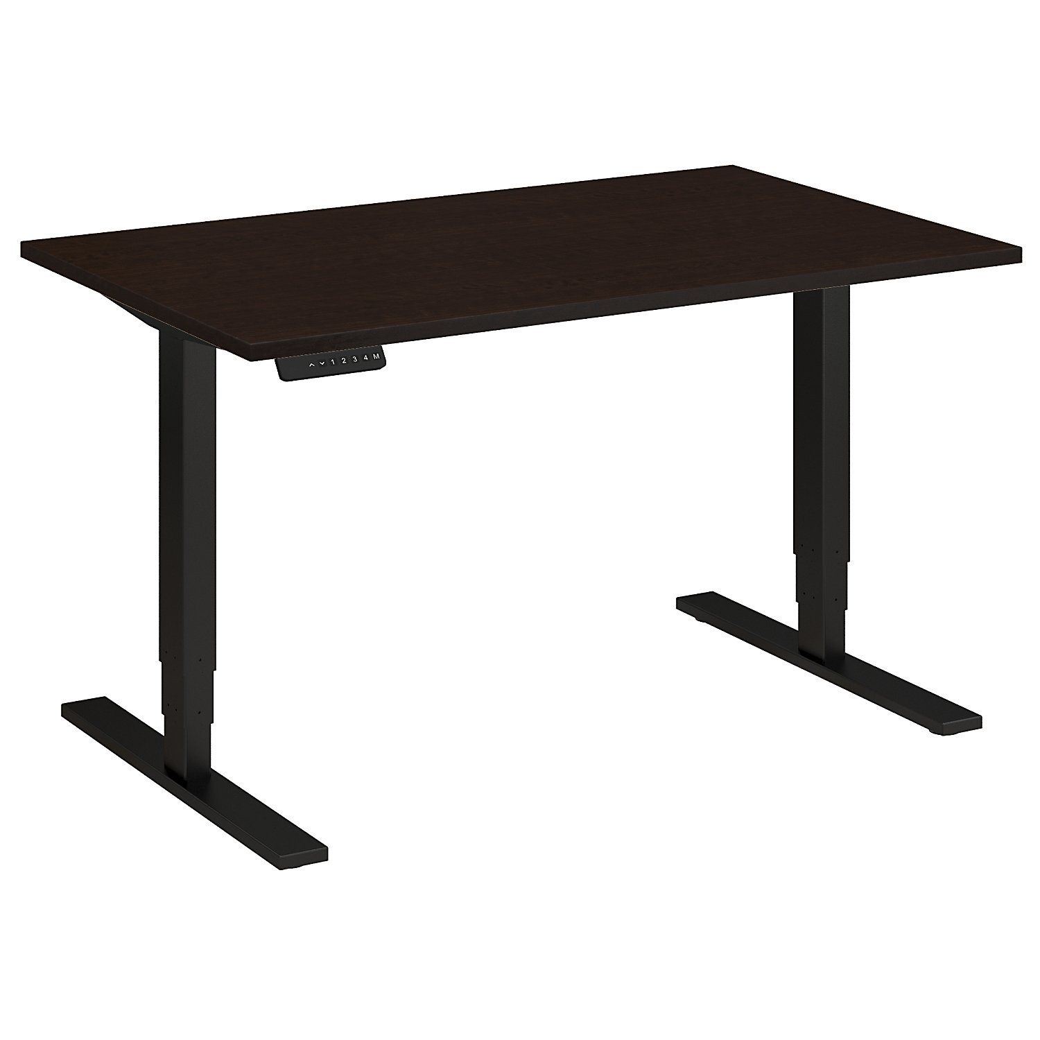 Move 80 Series 48W Height Adjustable Standing Desk in Mocha Cherry Satin with Black Base
