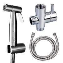 Kowela Handheld Bidet Toilet Sprayer, Stainless Steel Bathroom Bidet Sprayer Set, Baby Cloth Diaper Sprayer, Brush Nickel Finish,Wall or Toilet Mount