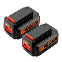 Energup 2500mAh 40 Volt MAX Replacement Battery for Black&Decker LBX2040 LBX36 LBXR36 LBXR2036 Black and Decker 40V Lithium Ion Batteries (2 Pack)