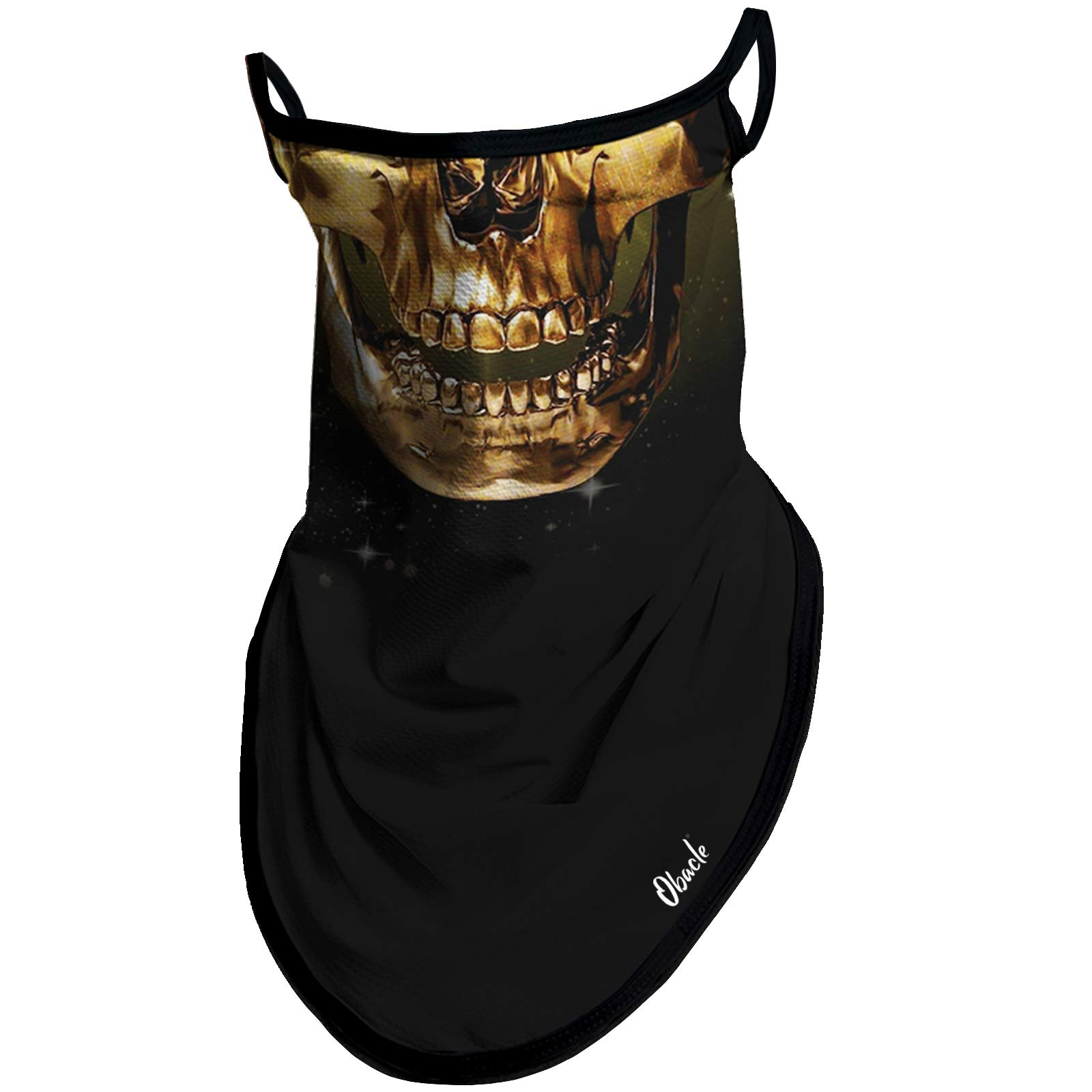 Obacle Neck Gaiter Face Mask with Ear Loops Bandana Face Mask Scarf Face Cover for Men Women