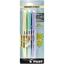 PILOT FriXion Light Pastel Collection Erasable Highlighters, Chisel Tip, Assorted Color Inks, 3-Pack (46542)