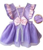 BomDeals Princess Dress Up Clothes for Little Girls,Toddler Kids Snow White Sofia Costume Party Birthday Tutu Apron Dress