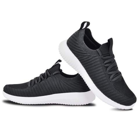 Exclusive Shoebox Mens Knit Breathable Comfortable Sneakers Lightweight Athletic Tennis Walking Running Shoes