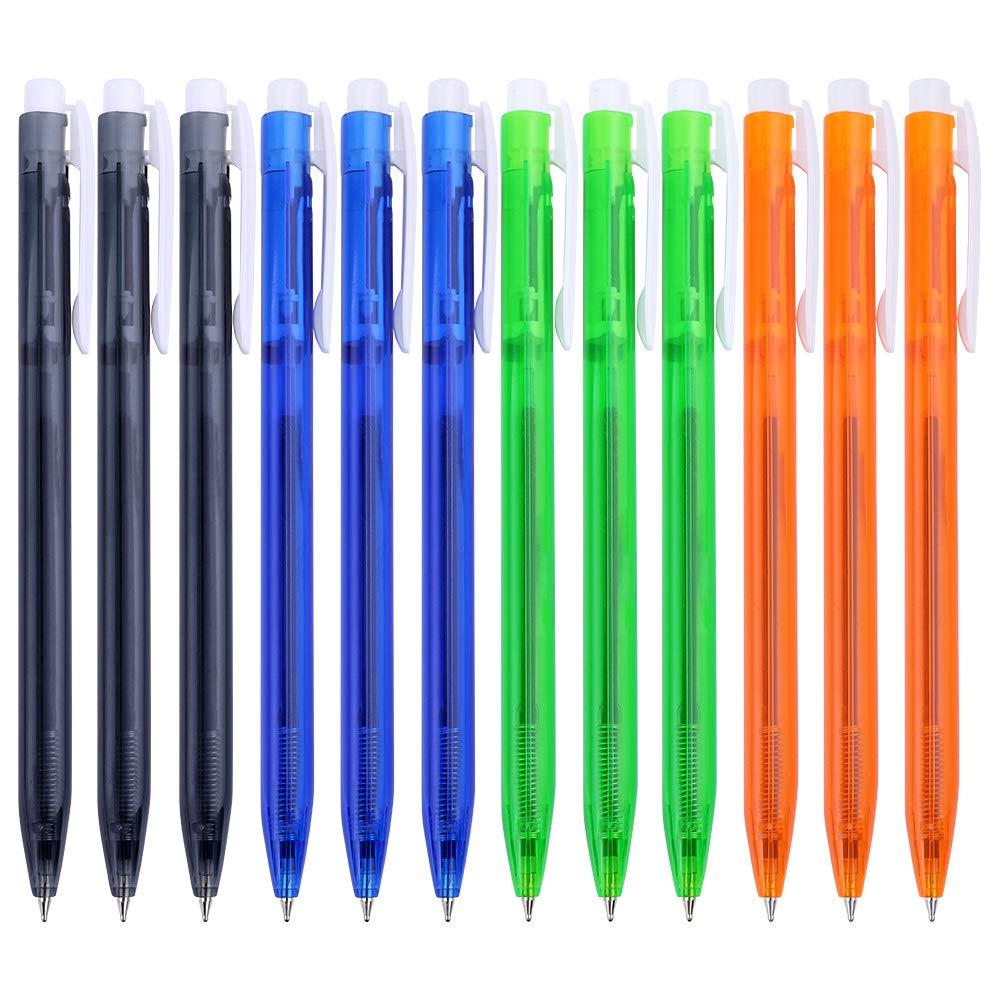 BAOKE Retractable Premium Ballpoint Pen, Ball Pen, Medium Point 0.7mm Ballpoint Pen,12 Pack Ball Pens, B60 (blue)