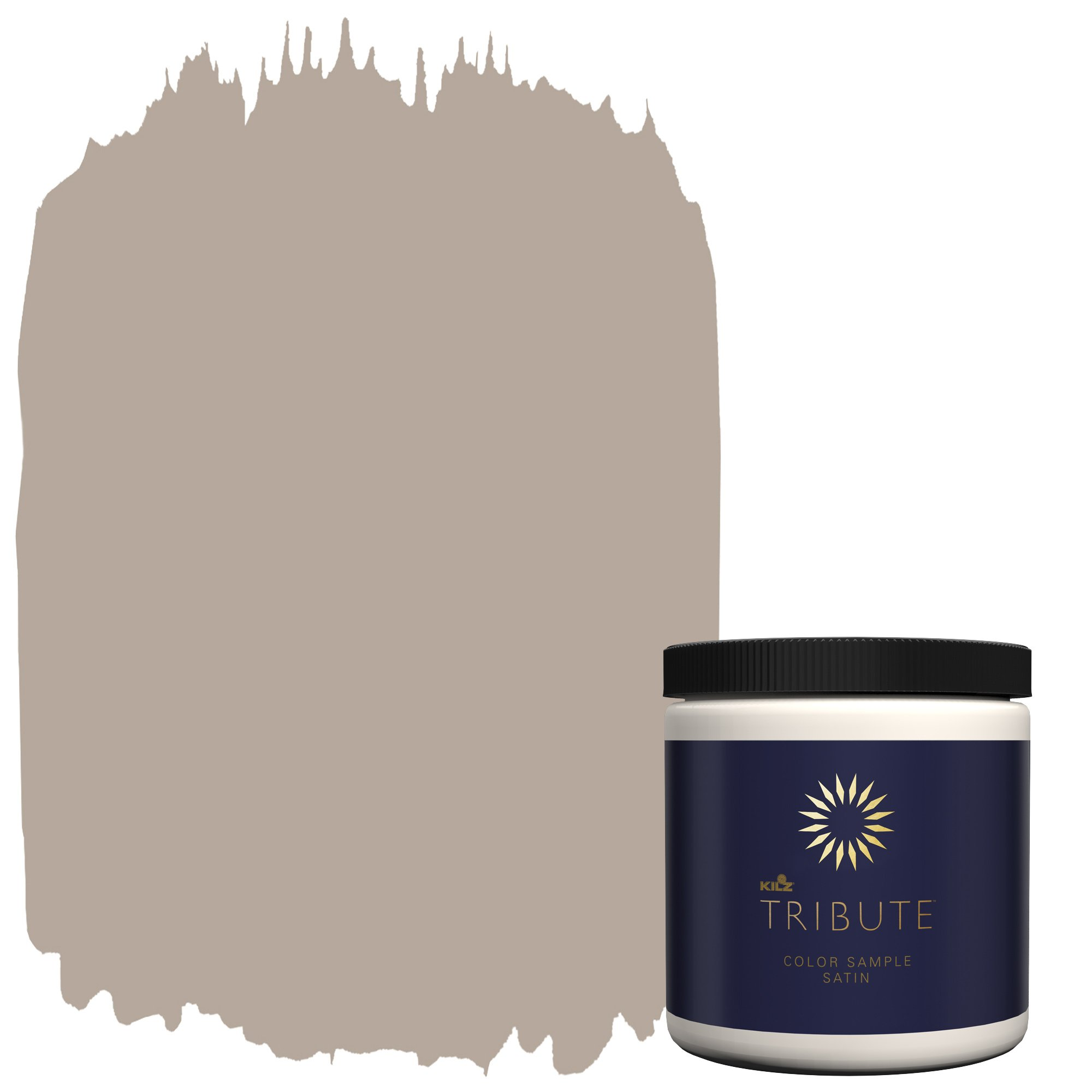 KILZ Tribute Interior Satin Paint & Primer in One, 8-Ounce Sample, Fawn Doe (TB-24)