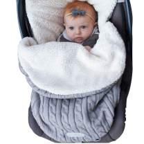 XMWEALTHY Baby Girls Boys Wrap Swaddle Blankets Newborn Infant Knit Plush Receiving Blankets Sleeping Sack Grey