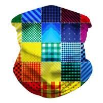 Seamless Rave Bandana Mask Neck Gaiter Tube Face Bandana Scarf for Women Men