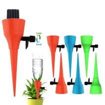 OZMI Plant Self Watering Spikes Devices, 6 Pack Automatic Irrigation Equipment Plant Waterer with Slow Release Control Valve, Adjustable Water Volume Drip System for Home and Vacation Plant Watering