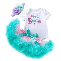 MiXiaoJie Baby Girls Dress Newborn Party Summer Cotton Tutu Dress Ballet Tutu Princess Dress with Headwear