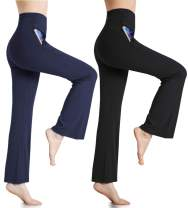 MILANKERR Womens Lounge Pants High Waist Comfy Casual Pajama Pants Palazzo Boot-Cut Wild Leg Long Pants with Pockets