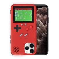 KOBWA Gameboy Case for iPhone,Retro 3D Gameboy Design Style Silicone Cover Case with 36 Small Games,Color Screen,Video Game Cover Case for iPhone 11/11Pro/11Pro,and More (Red, iPhone 11 Pro)