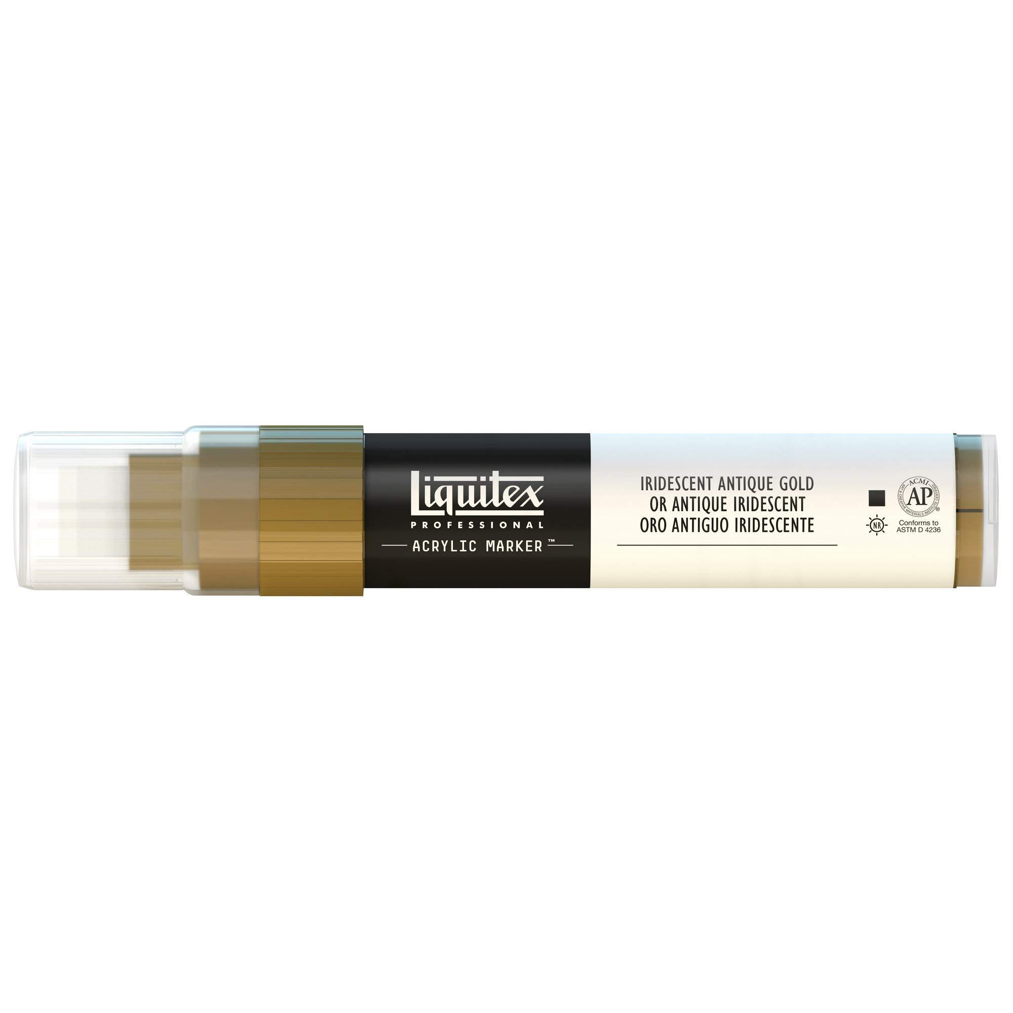 Liquitex Professional Wide Paint Marker, Iridescent Antique Gold