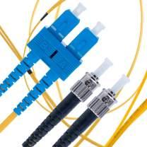 SC to ST Fiber Patch Cable Single Mode Duplex - 3m (9.84ft) - 9/125um OS1 / - Beyondtech PureOptics Cable Series