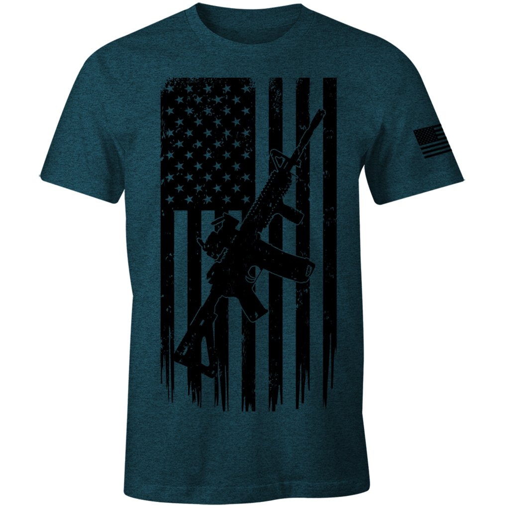 2nd Amendment T-Shirt Pro Second Amendment USA American Flag Patriotic T-Shirt