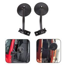 JoyTutus Mirrors Doors Off Quick Release, Hinge Round Mirrors for Jeep Wrangler JK JKU TJ