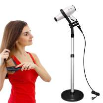 CHRUNONE Hair Dryer Stand, 360 Degree Rotating Lazy Hair Dryer Stand Hand Free With Heavy Base, Hands-Free Blow Dryer Holder Countertop, Adjustable Height Hair Dryer Holder