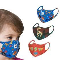 3pcs Reusable Face Màsc Bandana for Unisex Kids,with Cute Cartoon Print Breathing Face Màsc Bandanas for Teens (3pcs,Color-i)