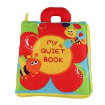 AIPINQI Quiet Book for Toddler, Portable Soft Baby Activity Books Fabric Books Best Educational Early Learning Toy for Toddlers, Fine Motor Skills, Pretend Play, Travel Toys