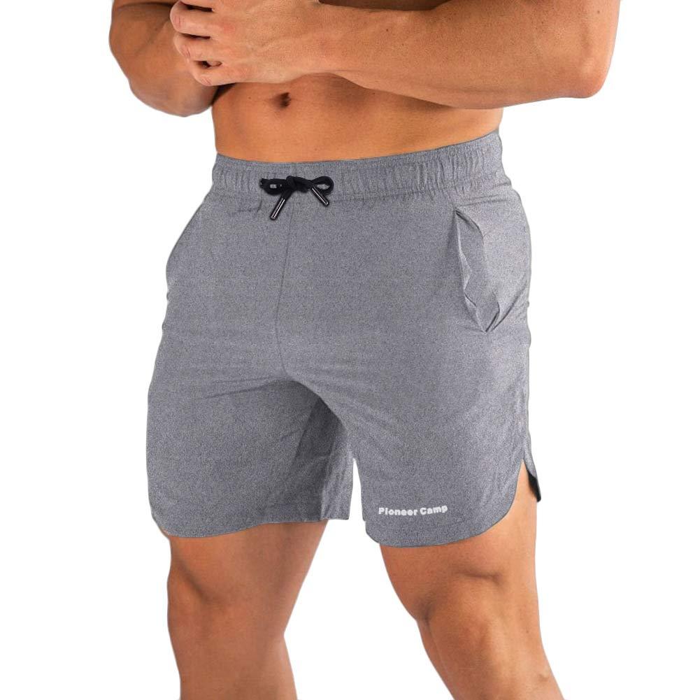 Pioneer Camp Men's Gym Workout Shorts Quick Dry Elastic Waist Training Bodybuilding Running Shorts