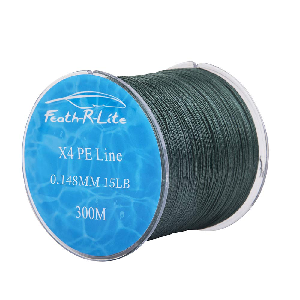FEATH-R-LITE 4 PE Strands Braided Fishing Line 10-80LB Zero Stretch – Smaller Diameter Abrasion Resistant Braided Lines