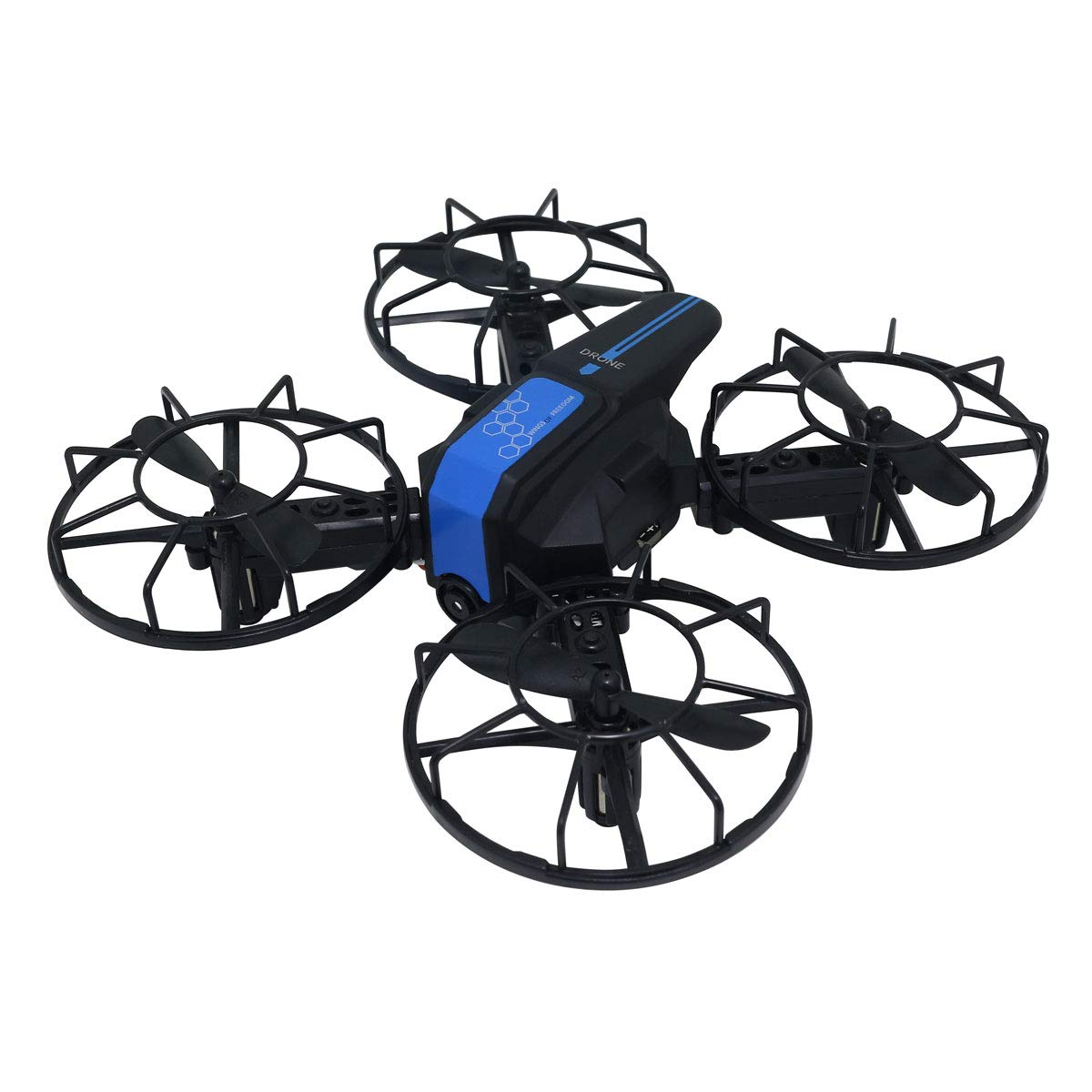Lutema Cluster Specter - Modular Quadcopter Drone with 720P Video Capacity, Six Axis Gyro & 360º Flip Capability (Blue)