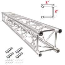 """XuSha 6.56 ft (2.0 m) DJ Light Stand Truss 20 x 20 cm 8"""" x 8"""" Straight Square Aluminum Truss Segment Includes Coupler Connections Delivered within 3-5 Days"""
