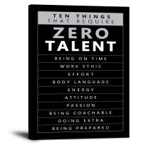 """Inspirational Wall Art Motivational Pictures Prints on Canvas Modern Inspiring Entrepreneur Quotes Posters Ten Things that Require Zero Talent Painting Artwork Decor for Office Home Gift (18""""Wx24""""H)"""