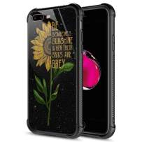 iPhone 8 Plus Case, 9H Tempered Glass Sunflower Sunshine iPhone 7 Plus Cases [Anti-Scratch] Fashion Cute Pattern Design Cover Case for iPhone 7/8 Plus 5.5-inch Sunflower Sunshine