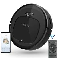 Pureatic V2S Robot Vacuum Cleaner with Smart Mapping, Dual Remote and App Control 1500PA Strong Suction, Wi-Fi Connected, Self-Charging, Good for Pet Hair, Low Pile Carpet, Hard Floors (V2S Standard)