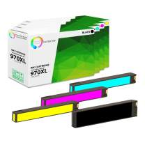 TCT Compatible Ink Cartridge Replacement for HP 970XL 971XL Works with HP OfficeJet Pro X451DN X451DW Printers (Black, Cyan, Magenta, Yellow) - 4 Pack