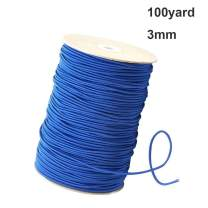 Sewing Elastic Bands Cord Heavy Stretch Braided Elastic Rope 100 Yards Sewing Elastic Spool (Blue, 1/8 Inch)