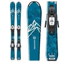Salomon QST Max Jr Small Skis w/ C5 GW Bindings Kid's Sz 100cm Blue/White