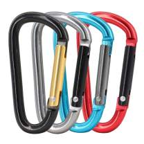 Gisdanchz 2.28inch D Carabiner, Non Locking, Quickdraw Easy Use Aluminum Key Carabiner Clip for Outdoor Activites