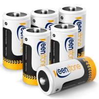 Keenstone Rechargeable C Batteries 1.2V 5000mAh Ni-MH High Capacity C Size Batteries (6 Pack)
