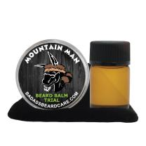 Badass Beard Care Beard Oil and Balm Trial Pack For Men - Mountain Man Scent - Natural Ingredients, Keeps Beard and Mustache Full, Soft and Healthy, Reduce Itchy, Flaky Skin, Promote Healthy Growth