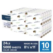 Hammermill Orchid Colored 24lb Copy Paper, 8.5x11, 10 Ream Case, 5,000 Total Sheets, Made in USA, Sustainably Sourced From American Family Tree Farms, Acid Free, Pastel Printer Paper, 103780C