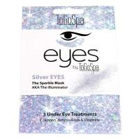 ToGoSpa EYES | Premium Clean Gel Pads with Collagen, Hyaluronic Acid, Aloe Vera, and Vitamins C & E- 3 Pack (Silver)