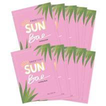 FaceTory Sun Bae Aloe Vera Soothing Sheet Mask - Soothing, Calming, and Hydrating (Pack of 10)