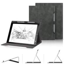 Skin-Friendly Folding Case for Sony DPT-RP1 13.3, Premium PU Leather Lightweight Folding Stand Smart Cover with Pencil Holder and Multiple Viewing Angles for Sony Digital Paper