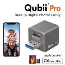 Qubii Pro Photo Storage Device for iPhone & iPad, Auto Backup Photos & Videos, Photo Stick for iPhone, Digital Photos Organizer【microSD Card Not Included】- Space Gray