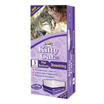 Alfapet cat Litter Box Liners Extra Large-1 Box- Heavy Duty 2 mil Thick Plastic, Clever Drawstring Liner for Easy Disposal- Flat Bottom for Easy, Secure Placement in Kitty Pan-Disposable