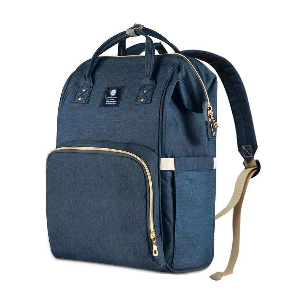 Diaper Bag Backpack Multi-Function Waterproof Travel Nappy Bags, Large Capacity,Dark Blue