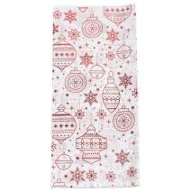 JAM PAPER Holiday Christmas Gift Tissue - Red & White Ornaments and Snowflakes - 6/Pack