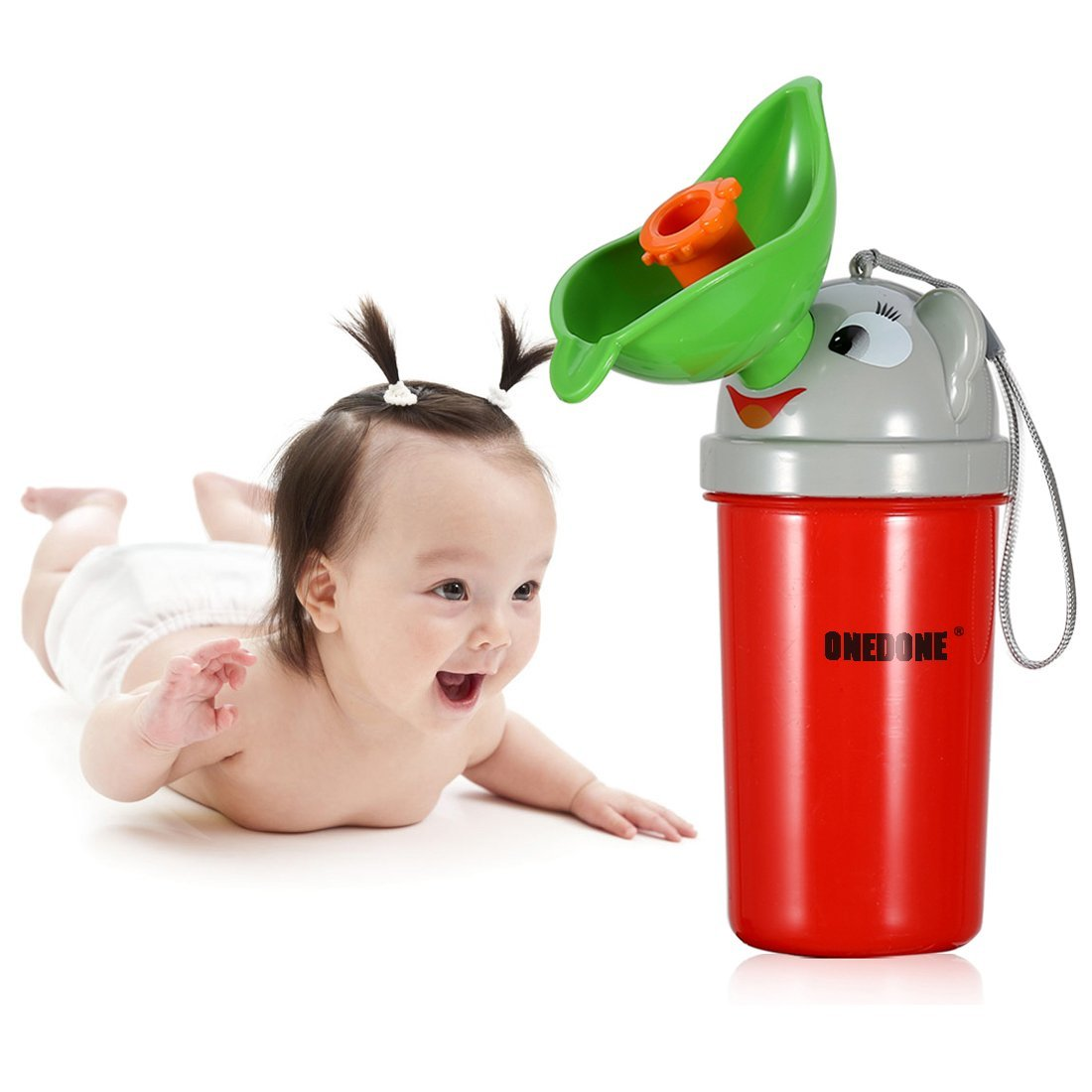 ONEDONE Portable Baby ChildPottyUrinal Emergency Toilet for Camping Car Travel and Kid Potty Pee Training (Girl)