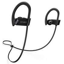 Criacr Bluetooth Headphones, Wireless Sports Earphone with Hi-Fi Stereo Sound, 9 Hrs Playing Noise Cancelling Headsets, Built-in Microphone, IPX7 Waterproof, Sweatproof Earbuds for Running Exercising